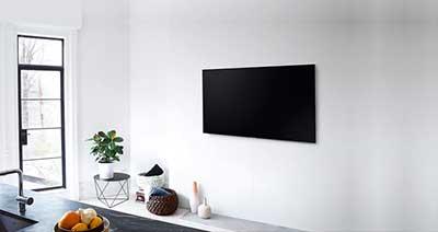 شکل1 - نصب تلویزیون روی دیوار