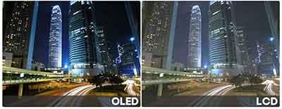 شکل3 - تلویزیون OLED اولد و روشنایی و کنتراست