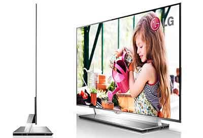 شکل2 -تلویزیون OLED اولد و  ضخامت و وزن